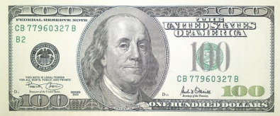 100 US Dollar bill Series 2001