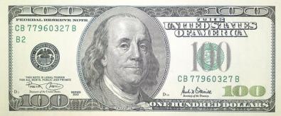 100 US Dollar bill Series 2001