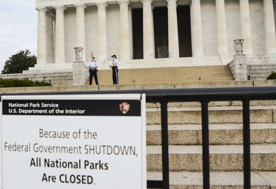 Federal Government Shutdown sign