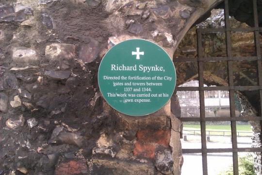 Richard Spynke fortified Norwich city walls