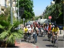 mass bicycle ride