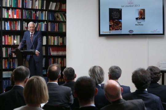 Ejan Mackaay at 2013 Prix Vogel ceremony