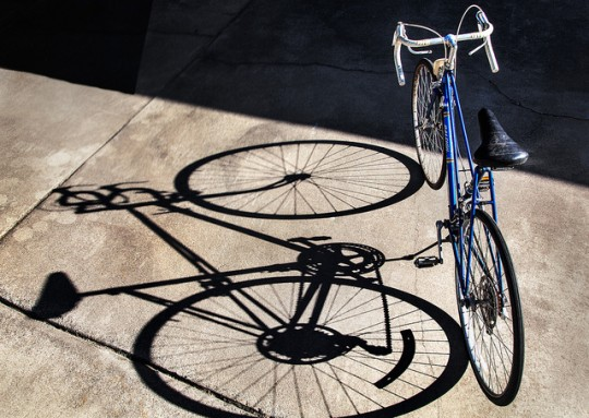 bike frame and shadow