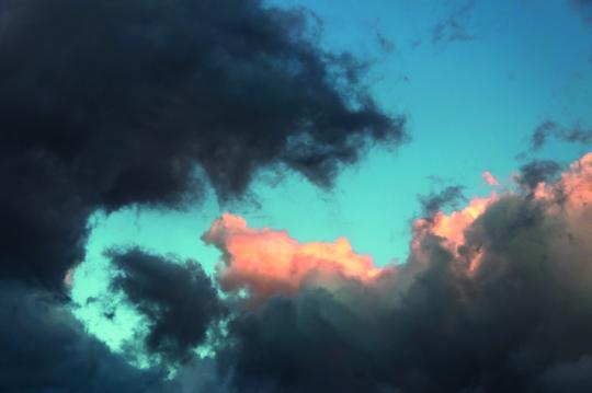 light and shadowed sky