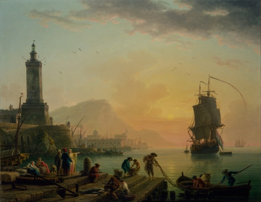 Claude-Joseph_Vernet_-_A_Calm_at_a_Mediterranean_Port_-_Google_Art_Project