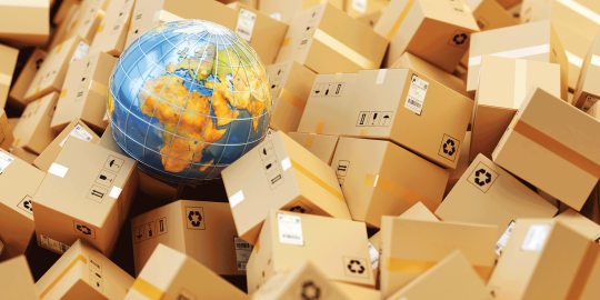 Image international trade and import and export tax