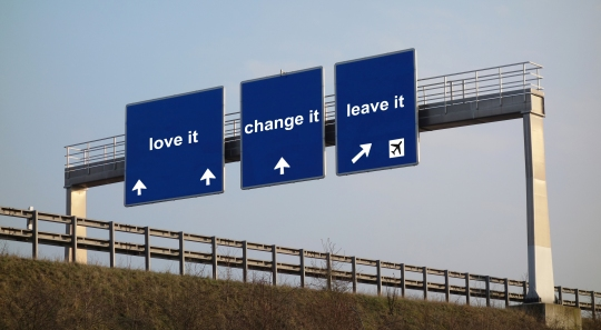 concept - love it, change it, leave it