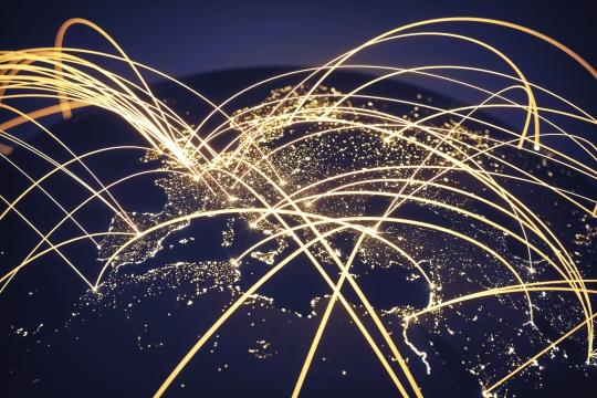 Global Network (World map texture credits to NASA)