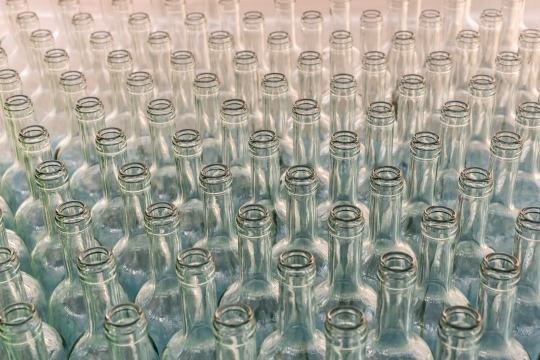Bottles in Row.